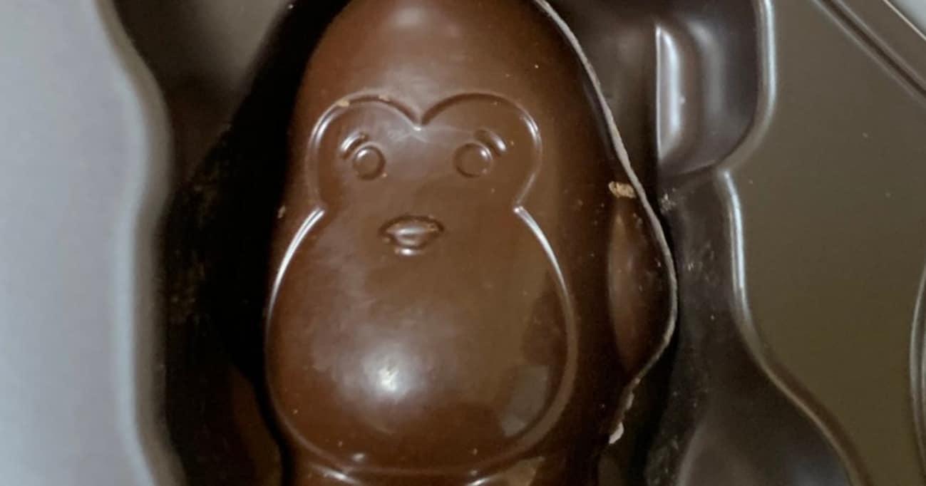 【謎】このチョコレートはペンギンかゴリラかどっちでしょうか…?→ さすがTwitter! リプにて正体が明らかに