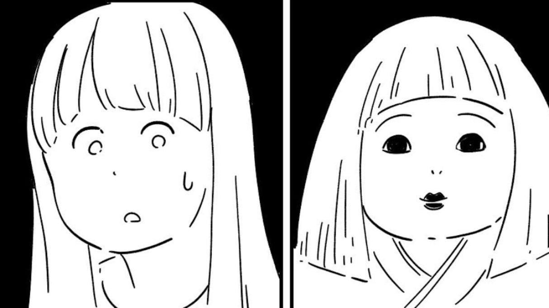 押し入れにしまいっぱなしの日本人形と目が合ってしまった…その後、美容院に行って気付いた「ある事実」が話題に
