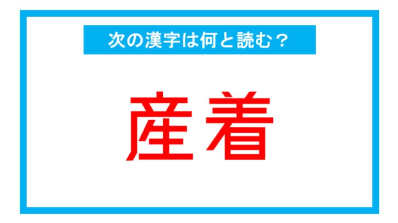 【漢検2級レベル】「産着」←この漢字、何と読む?(第119問)