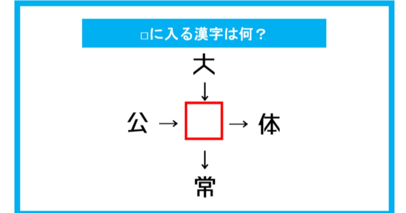 【漢字穴埋めクイズ】□に入る漢字は何?(第186問)