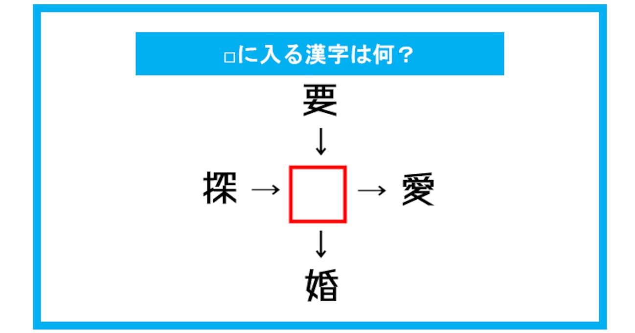 【漢字穴埋めクイズ】□に入る漢字は何?(第277問)