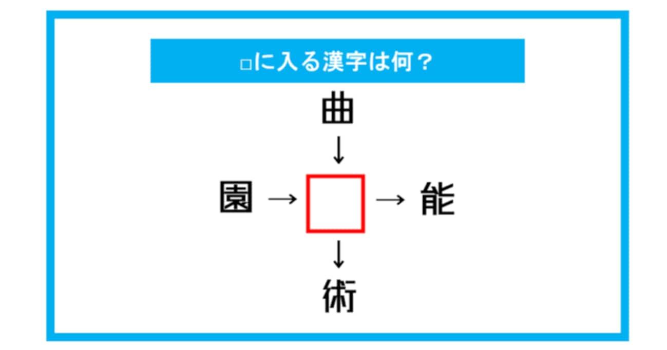 【漢字穴埋めクイズ】□に入る漢字は何?(第281問)