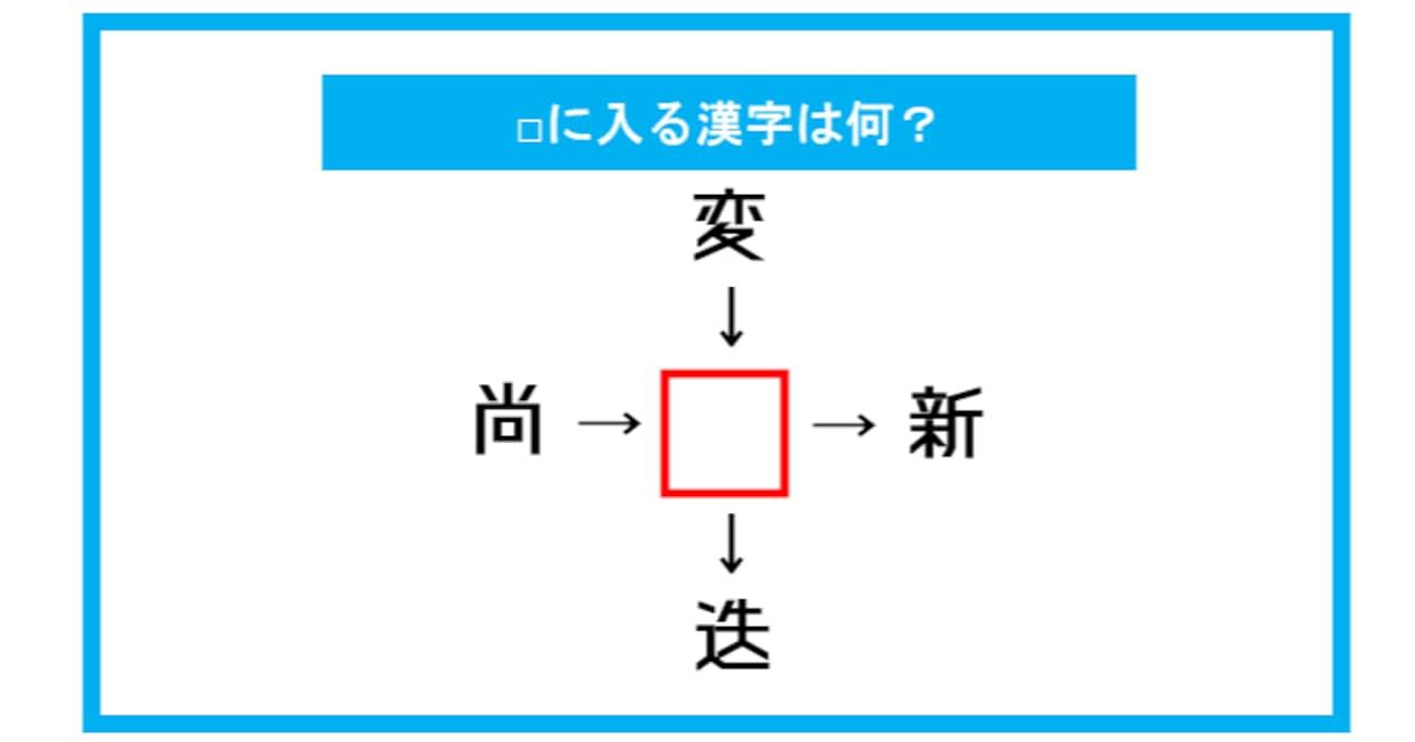 【漢字穴埋めクイズ】□に入る漢字は何?(第283問)