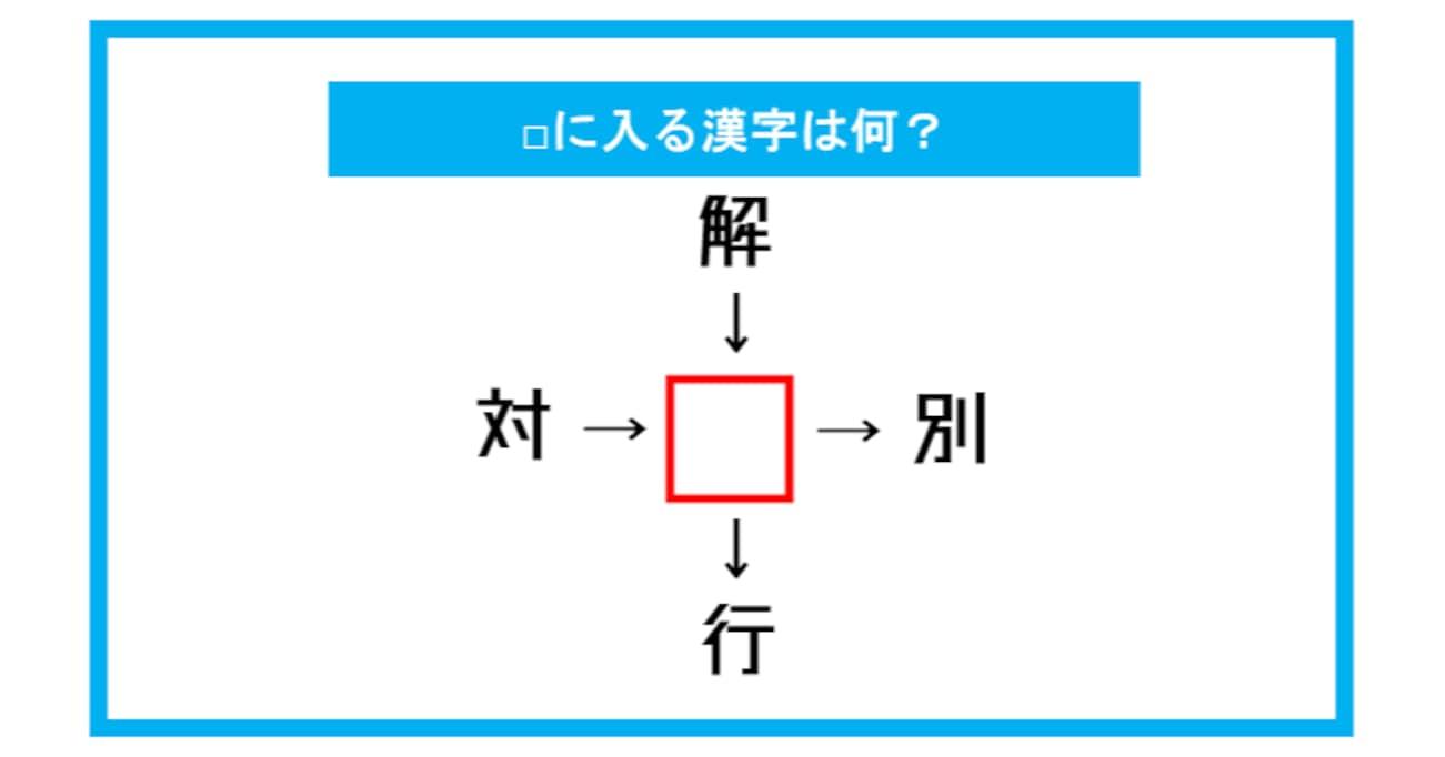 【漢字穴埋めクイズ】□に入る漢字は何?(第282問)