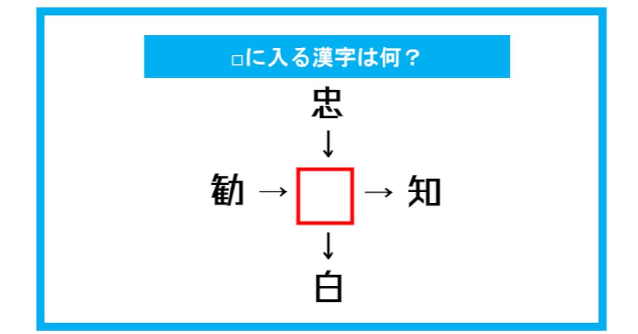 【漢字穴埋めクイズ】□に入る漢字は何?(第284問)