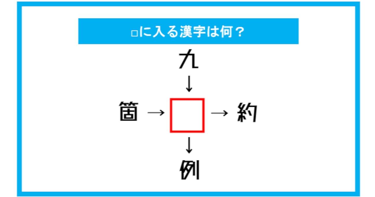 【漢字穴埋めクイズ】□に入る漢字は何?(第292問)