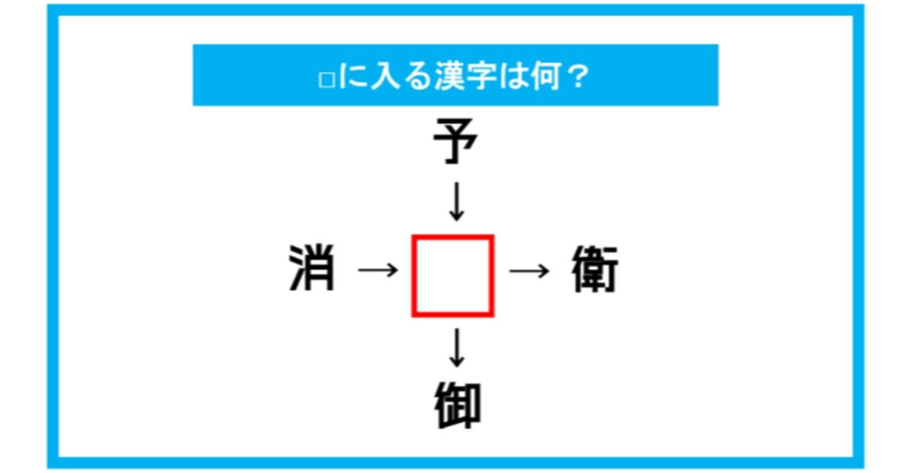 【漢字穴埋めクイズ】□に入る漢字は何?(第305問)