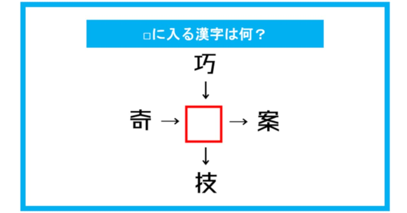 【漢字穴埋めクイズ】□に入る漢字は何?(第307問)