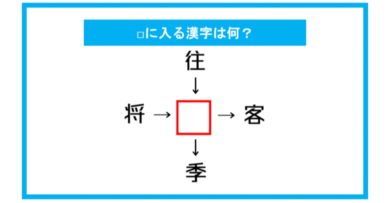 【漢字穴埋めクイズ】□に入る漢字は何?(第308問)
