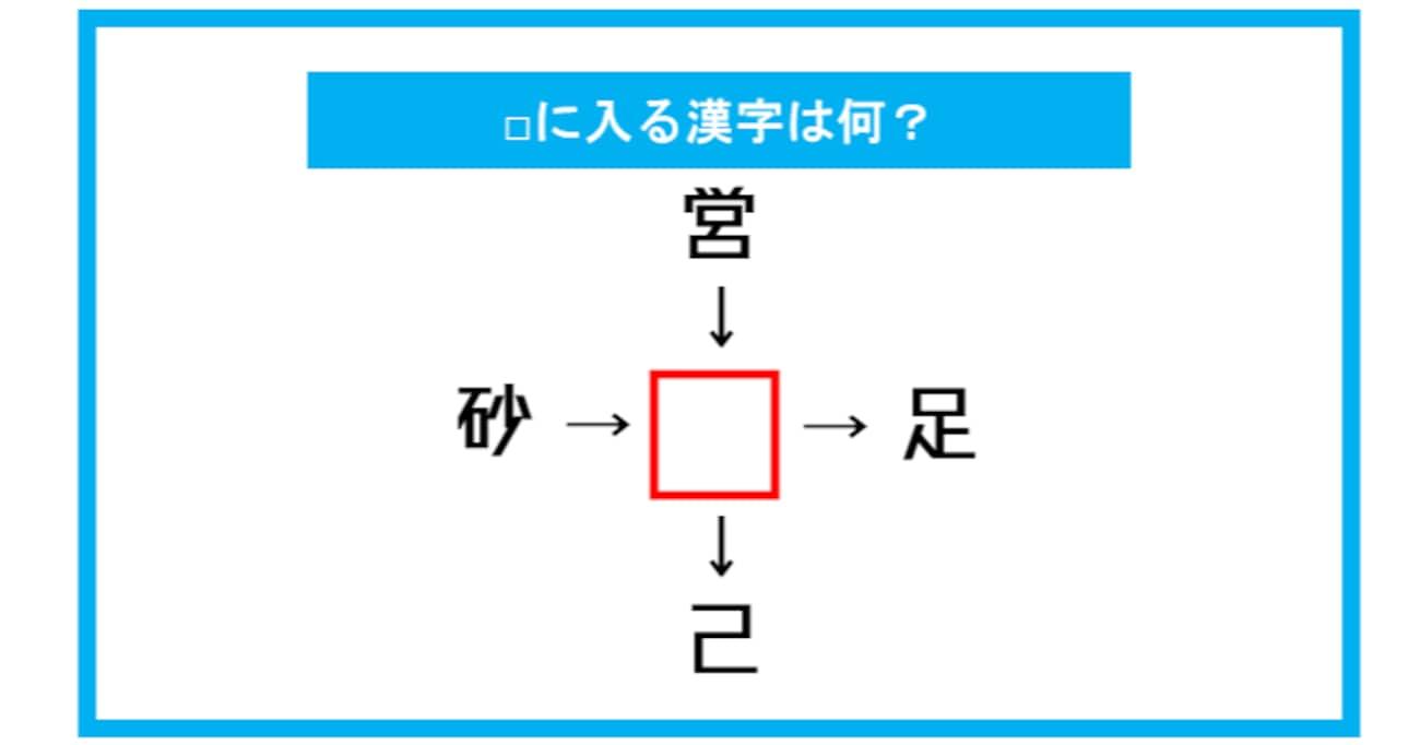 【漢字穴埋めクイズ】□に入る漢字は何?(第311問)