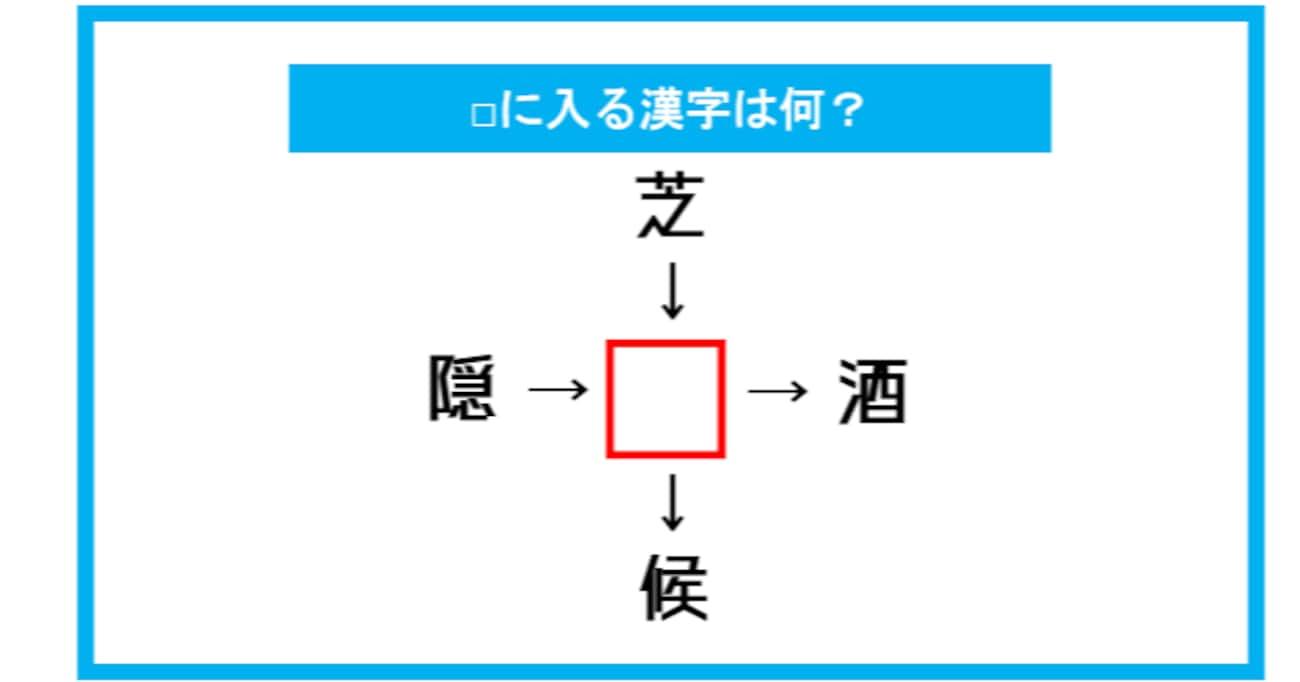 【漢字穴埋めクイズ】□に入る漢字は何?(第323問)