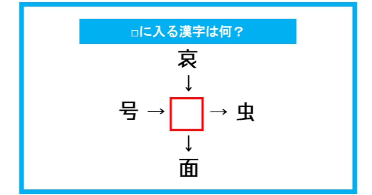 【漢字穴埋めクイズ】□に入る漢字は何?(第322問)