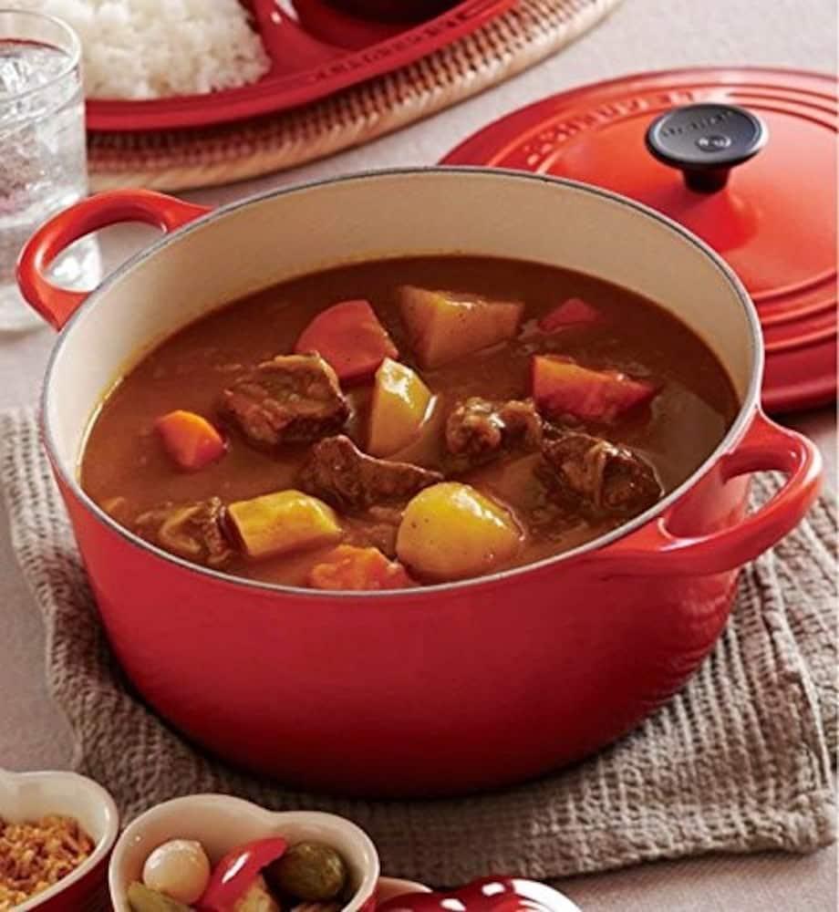 ホーローの鍋で作るカレー
