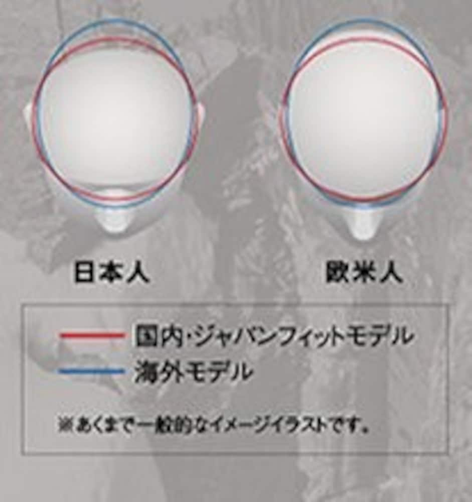 日本人と欧米人の頭の形比較