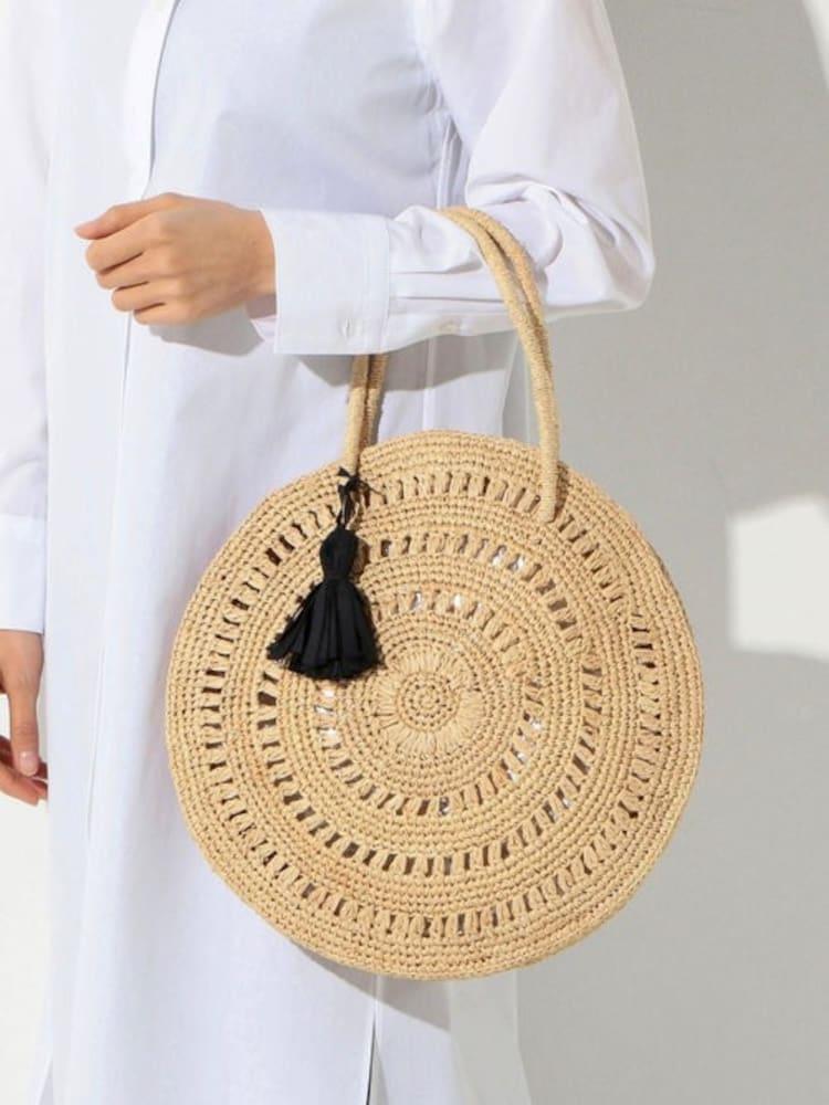 サークル型カゴバッグ