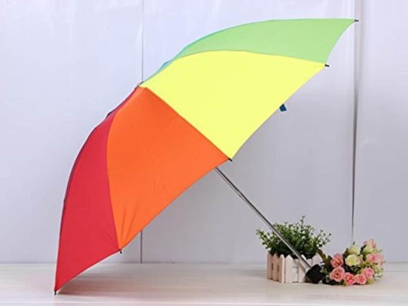 レインボーの折りたたみ日傘
