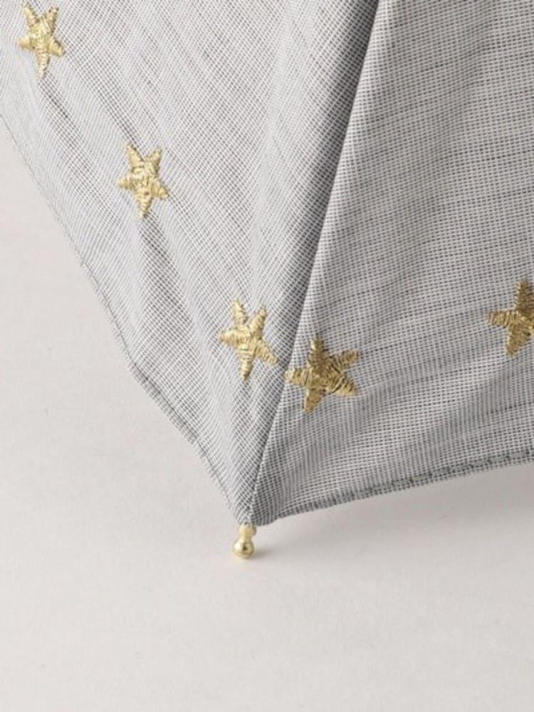 星柄の折りたたみ日傘