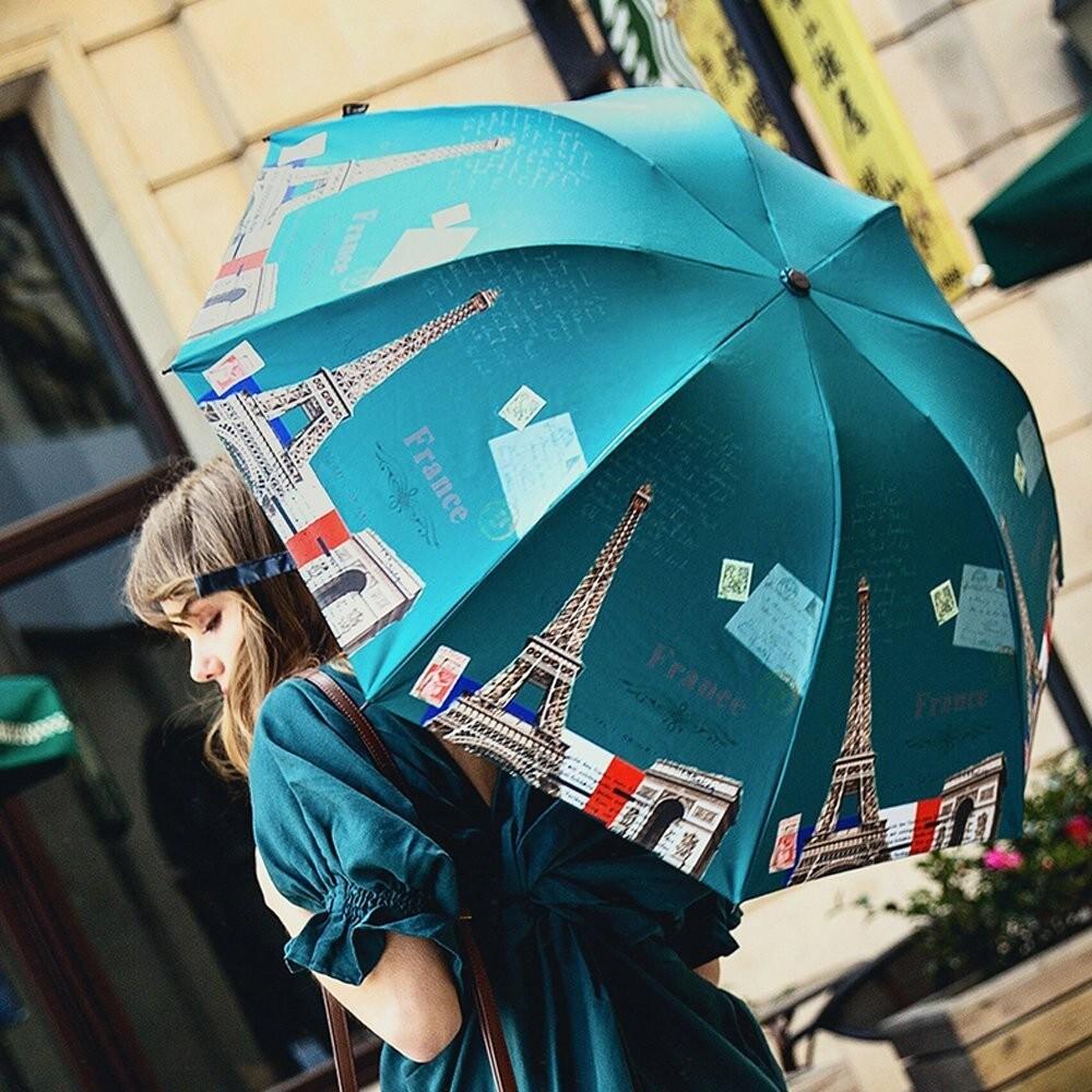 可愛い折りたたみ日傘