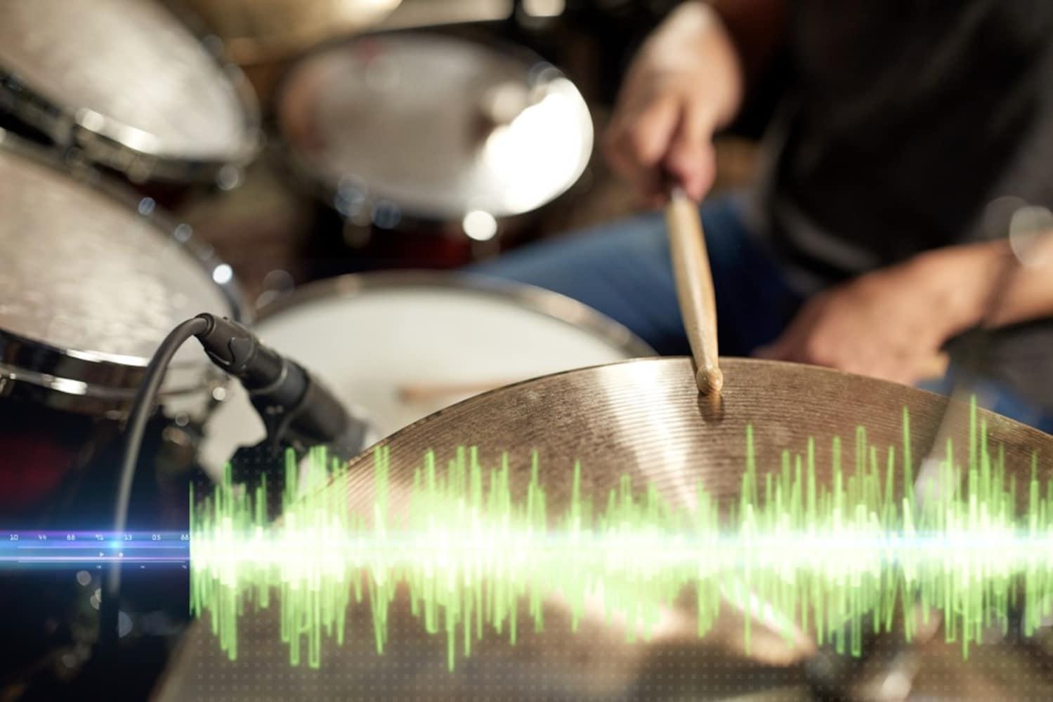 ドラムと波形
