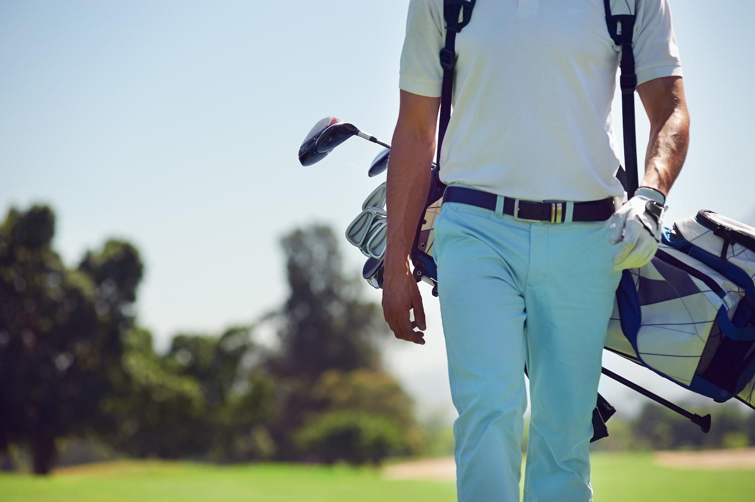 メンズのゴルフ用パンツ