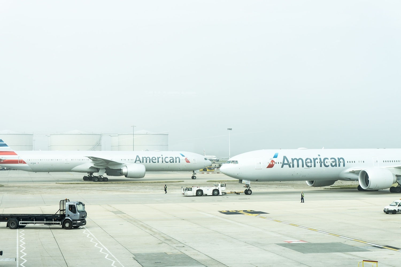 アメリカンエアラインのジェット機