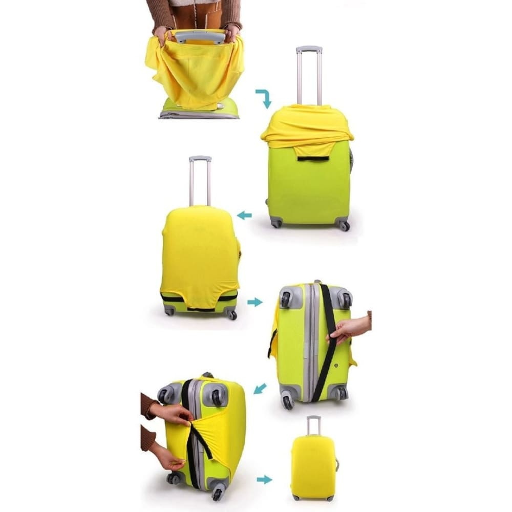 スーツケースカバーの装着方法