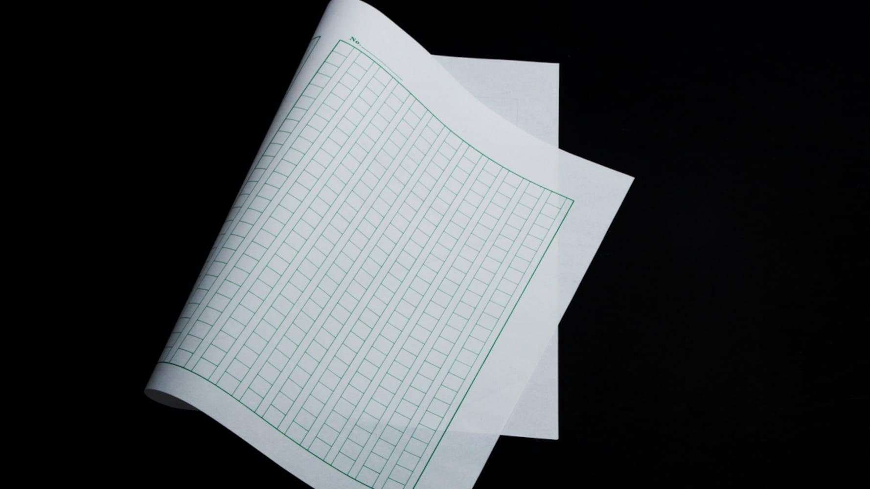 仕様1|罫線が青や緑のタイプはFAXで送ると写りにくい