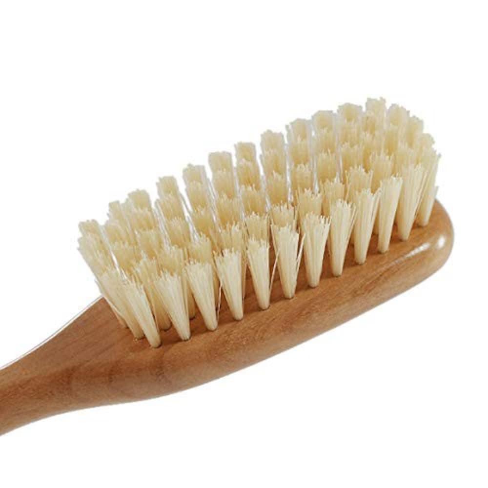 素材 髪の毛を取り除きやすいナイロン、肌に優しい天然素材