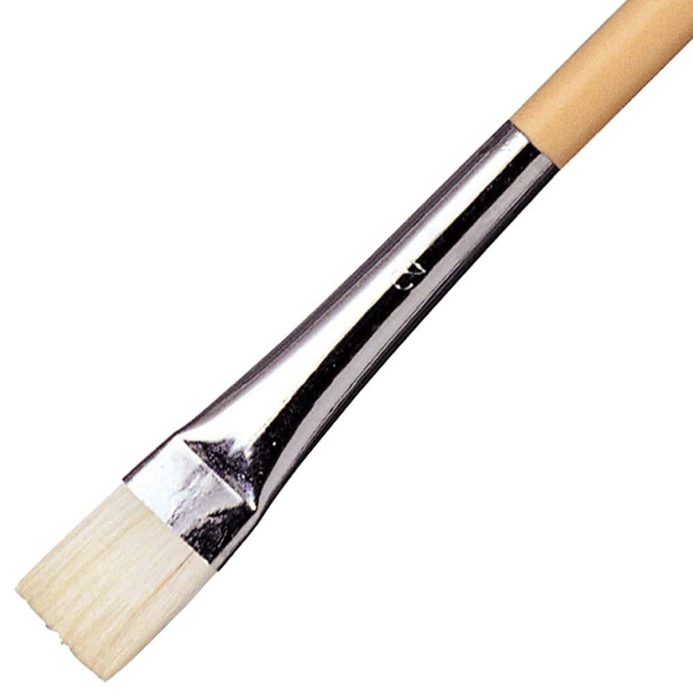 平筆|平らで横に広い筆、角や直線も描きやすい!