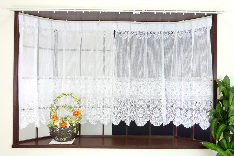 タイプ1|カーテンレールを使用する「出窓用レースカーテン」