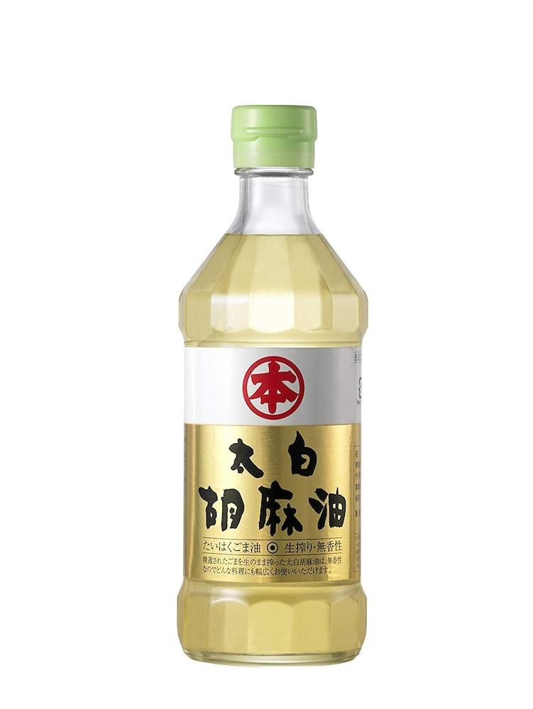 太白ごま油|透明で癖が少なく、香りも少ないため普段の料理向け