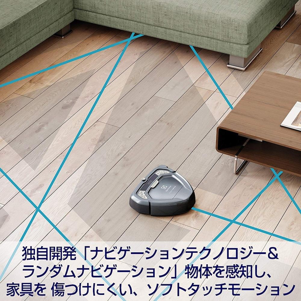 ルートを走るロボット掃除機