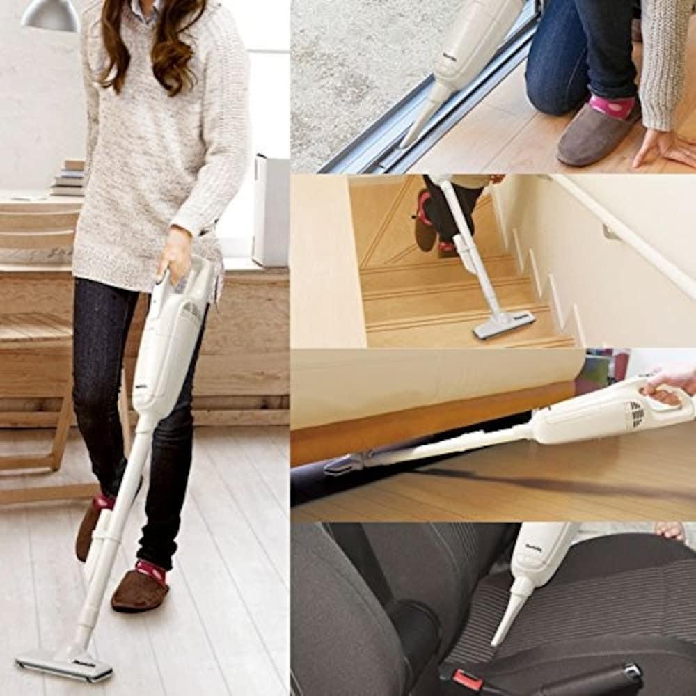 コードレス|持ち運びやすく、小回りが利くので場所を選ばずお掃除可能!