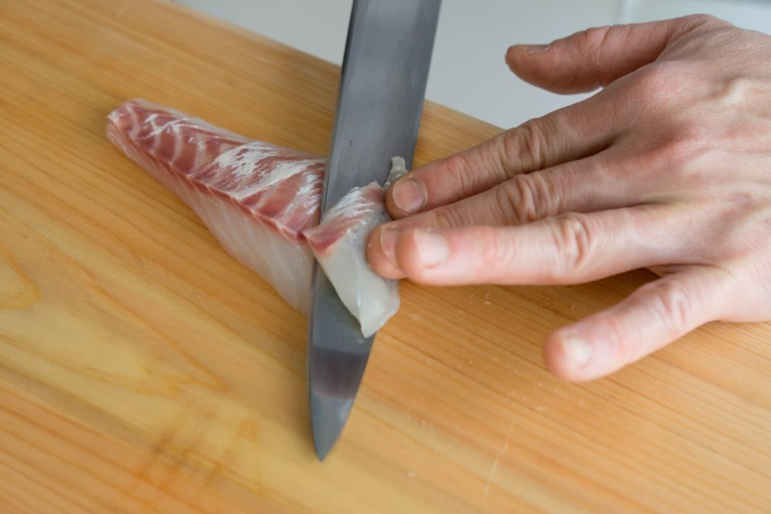 柳刃包丁の使い方