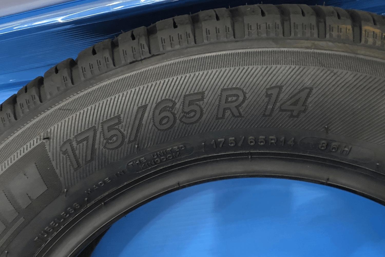 タイヤのサイズ表記