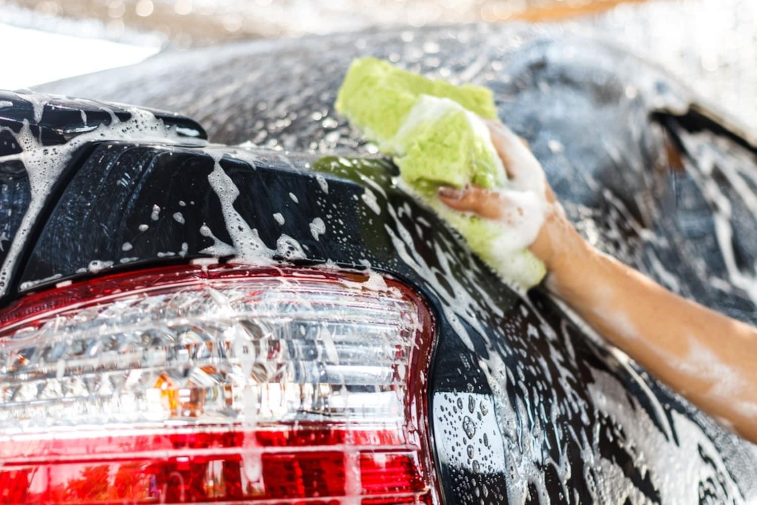 付着してすぐに洗車できるとき
