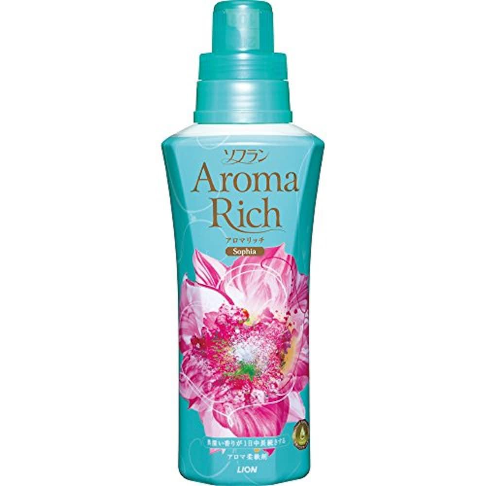 ソフラン アロマリッチ 柔軟剤 ソフィア (フェミニンフローラルアロマの香り) 本体 600ml
