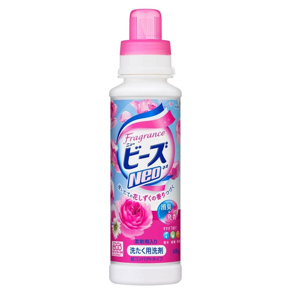 フレグランスニュービーズNeo 衣料用洗剤 液体 花しずくの香り 本体 400g