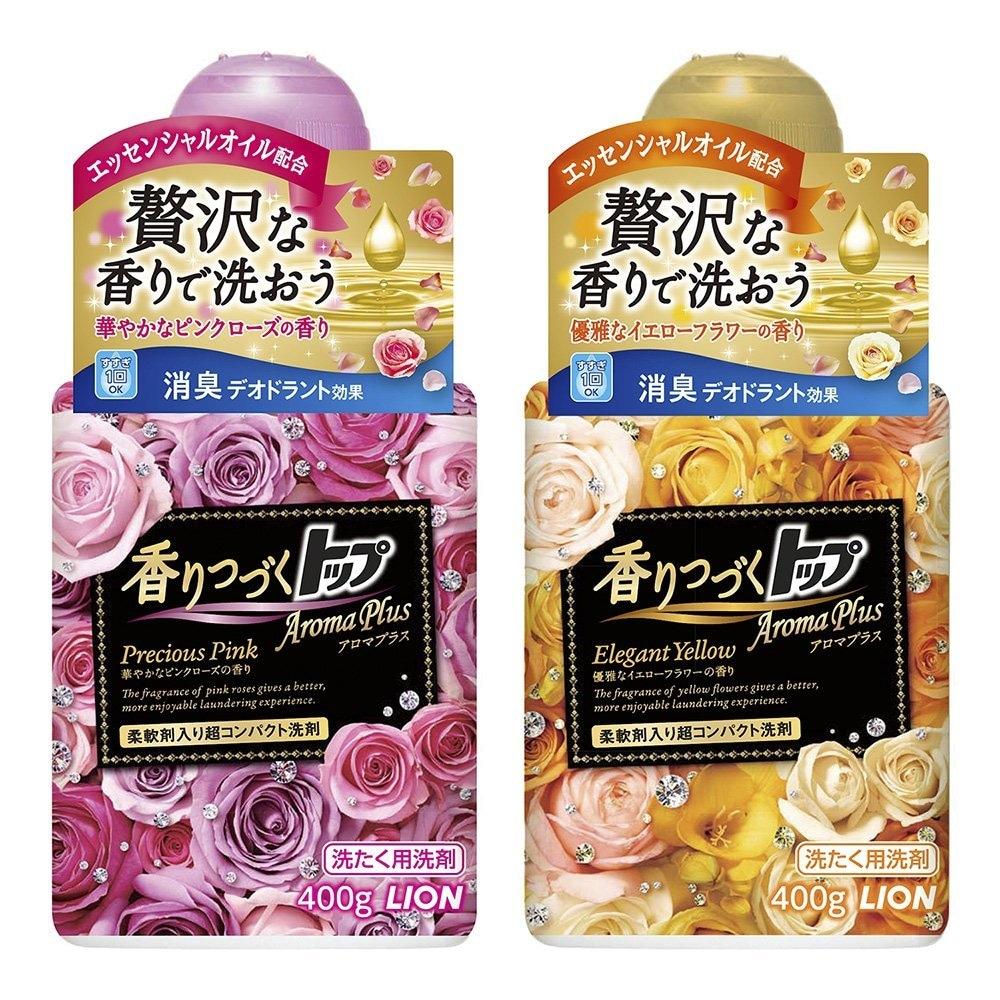 香りつづくトップ アロマプラス 洗濯洗剤 液体 エレガントイエロー 本体 400g