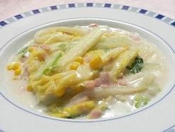 フライパンで作る、白菜の簡単クリーム煮