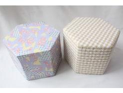 牛乳パック椅子の作り方とカバーの張り方(六角形)|牛乳パック工作