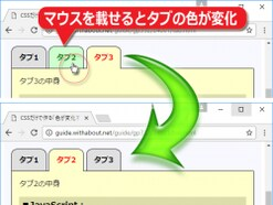 HTML+CSSだけでタブの切り替えを作る方法とサンプル