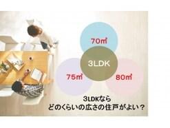 マンションの平均広さと面積別3LDKの間取り3選
