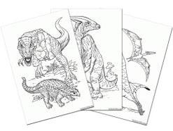 恐竜のぬりえ!無料ダウンロード・印刷からオンライン塗り絵まで