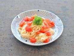 冷製トマトそうめんのレシピ~彩りと冷たさがポイント~