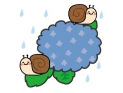梅雨のイラスト集、手書きのかわいいイラストがフリー