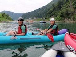 初めてのリバーカヤック……景色を楽しみながら川下り!