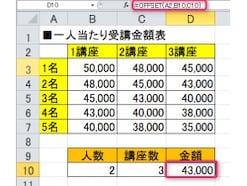OFFSET関数の使い方 表の中で特定の値を参照する