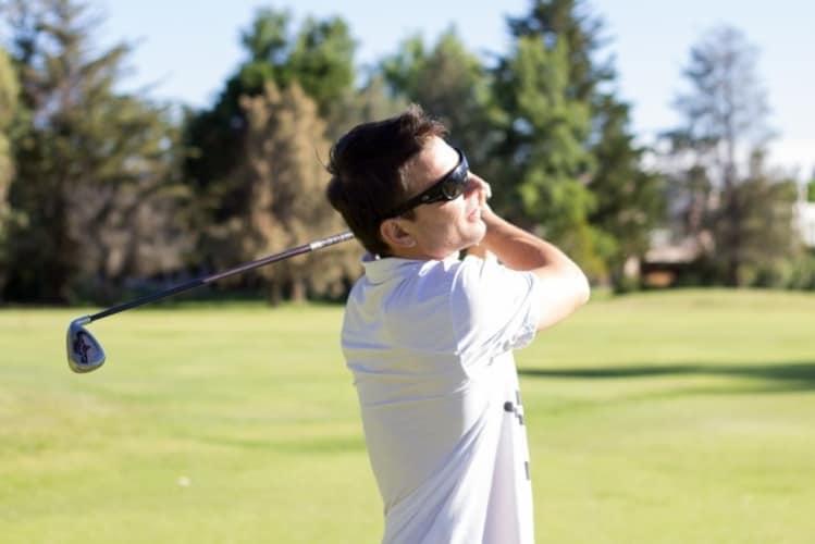 暑い日のゴルフ