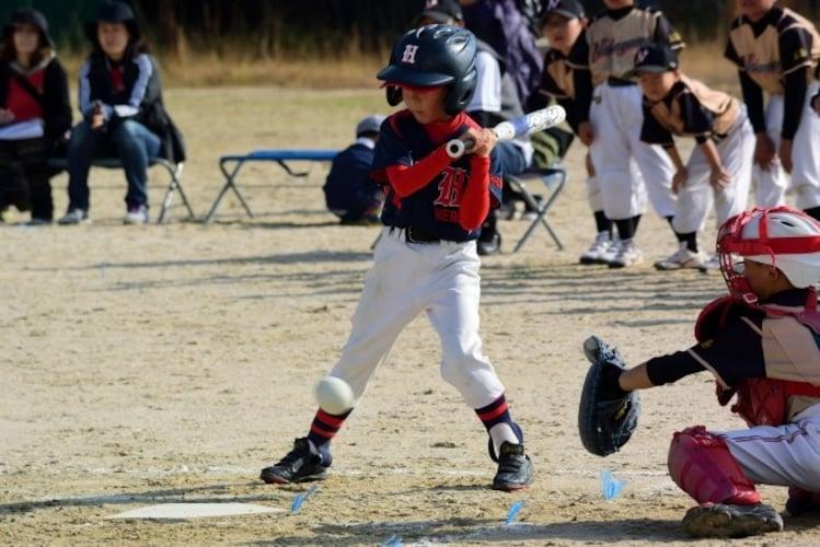 少年野球のバッティンググローブ